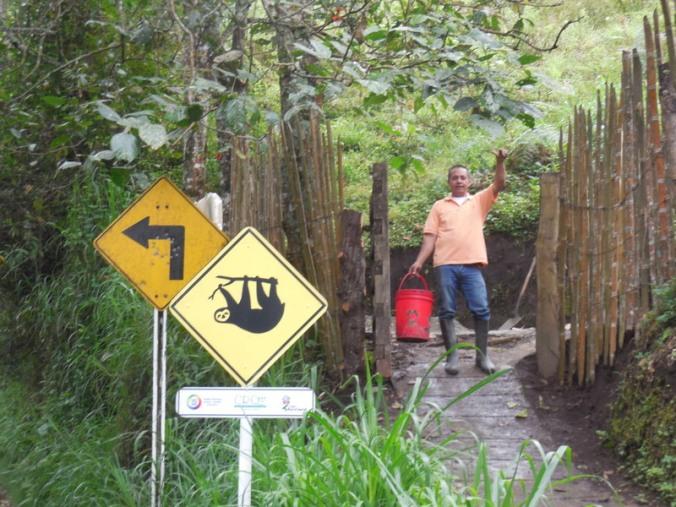 Sloth sign and man