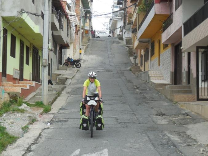 Steep street in Yarumal