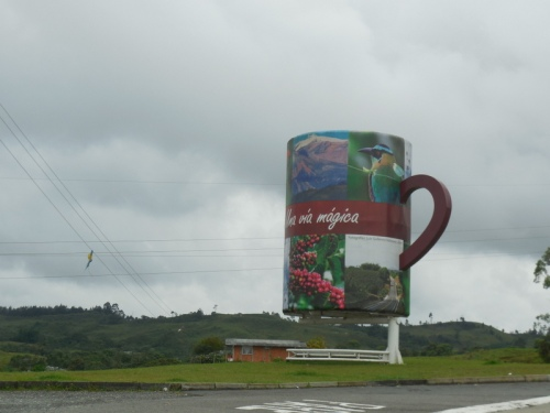 The big coffee cup