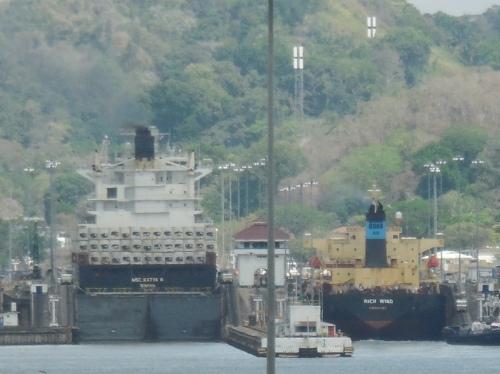 Two ships in far locks