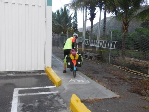 Bike path around tollbooth