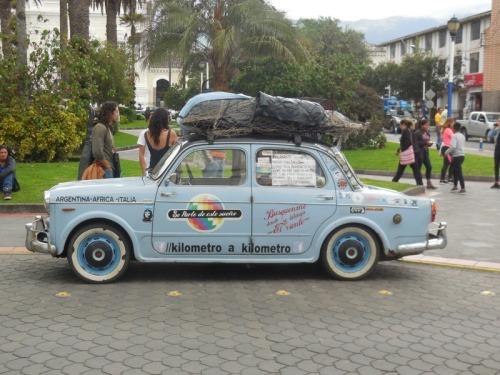 Cool old car beng driven all around SA