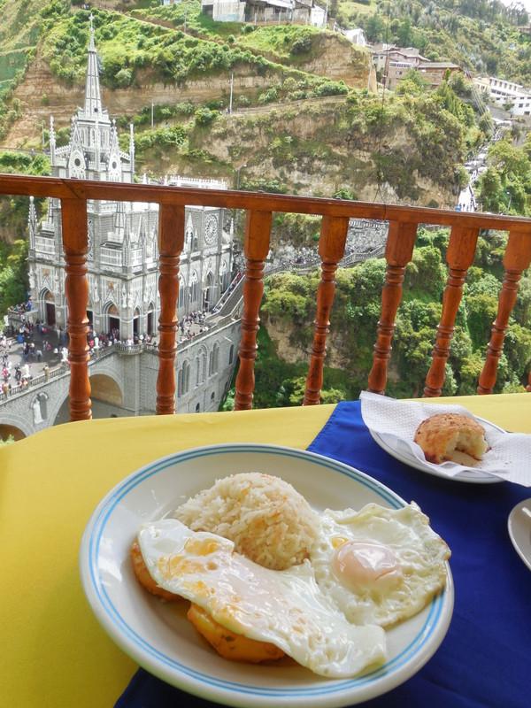 Las Lajas church - second brekkie