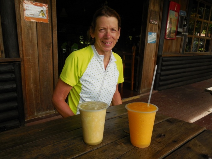 Nancy and our morning juice