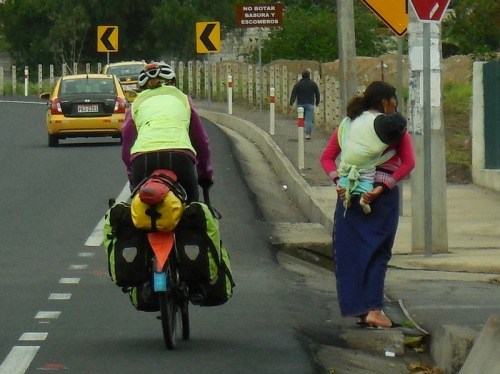 Rush hour traffic Nancy and a woman with a kid