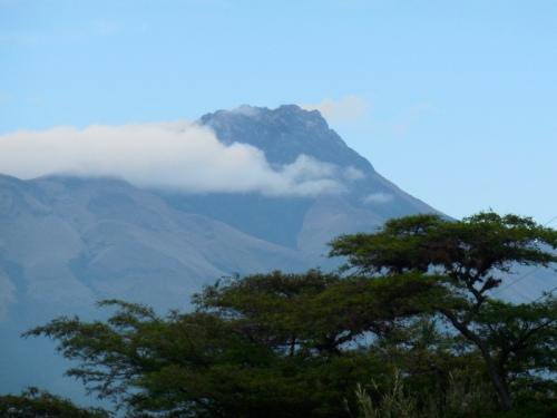 Volcano in morning 1