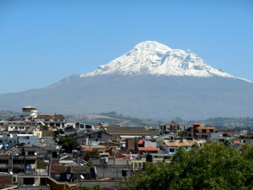Chimborazo over the city