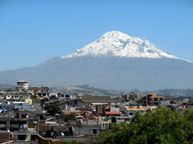 Chimborazo over the city