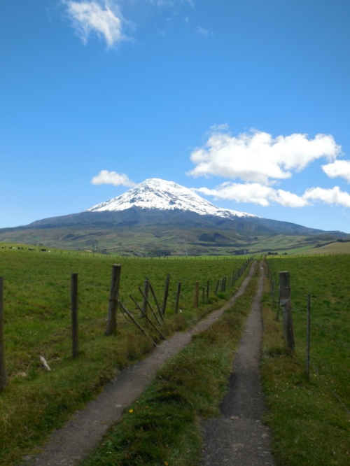 Chimborazo with road 1