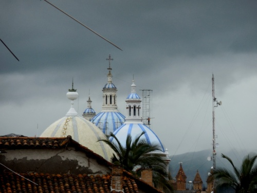 Cuenca church skyline