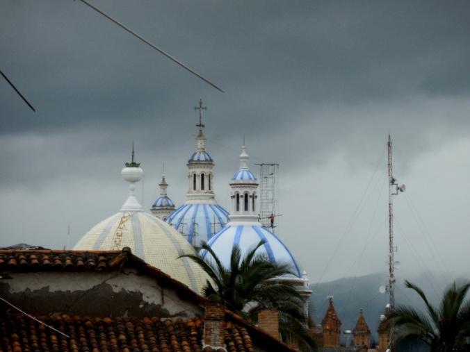 Cuenca church skyline
