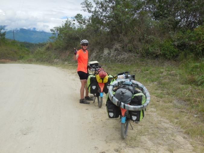 Top of the last hill in Ecuador