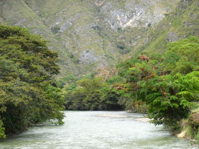 Utcubamba River getting smaller