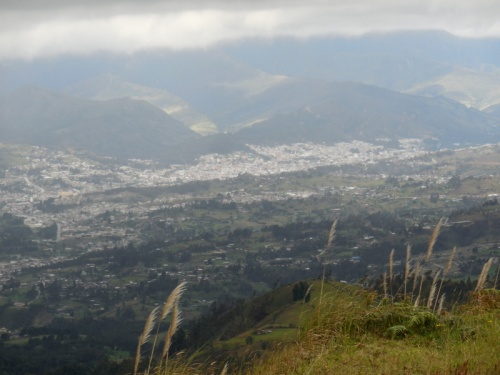 View of Loja at the top of the last climb