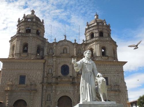 Cajamarca church with pigion