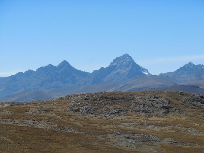 Distant Andes peaks 1