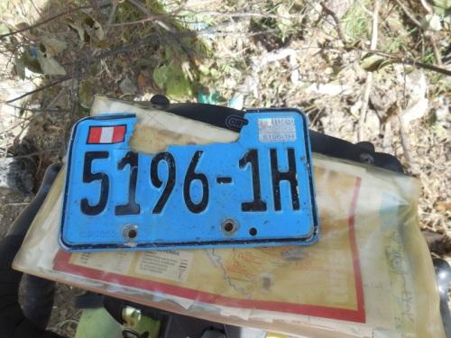 License plate - close