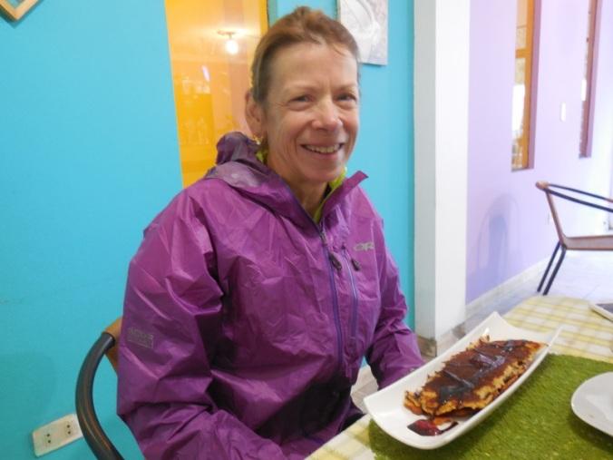 Nancy gets pancakes for brekkie