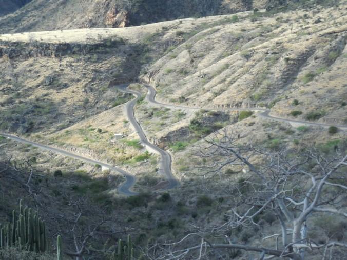 Our road below 2