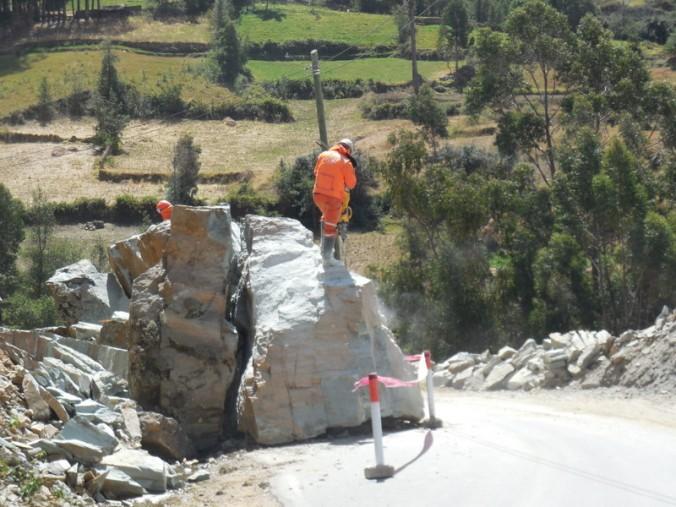 Rock on road, no problem, call jack hammer man