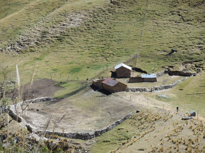 Rural home with stone corral