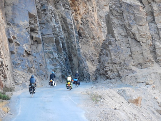 Tablachaca River canyon riders 1