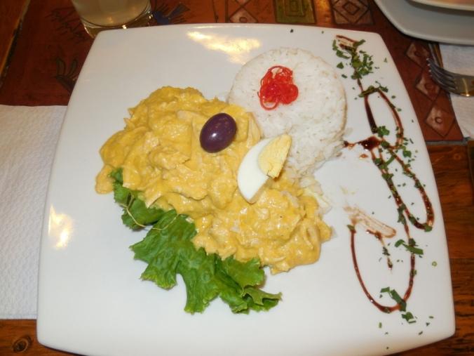 Dinner last night - Aji de gallina