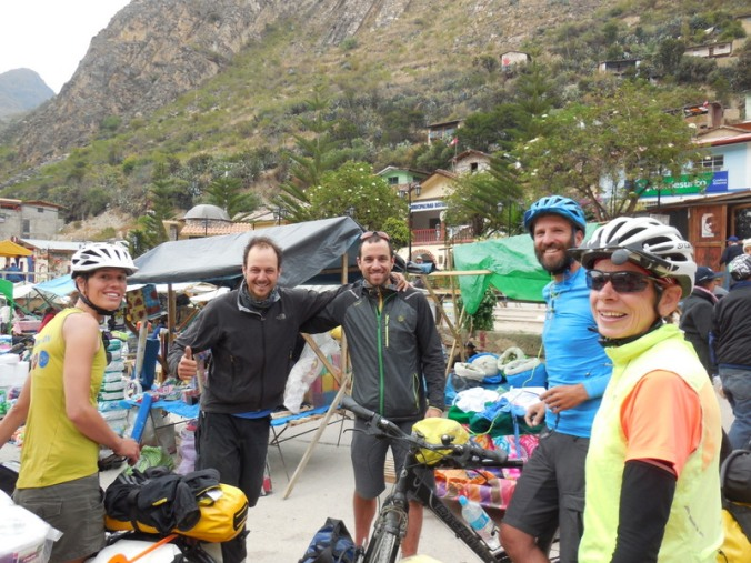 Meeting two Spanish cyclists