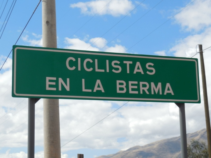 Saw lot of these Ciclistas signs