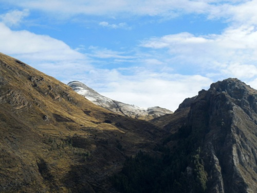 Snow over Huancavelica in the morning 1