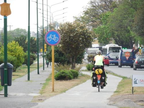 Bike path leaving town