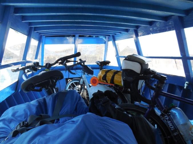 Ferry - our bikes