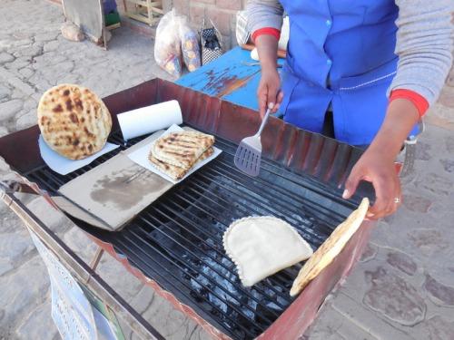Fried bread seller