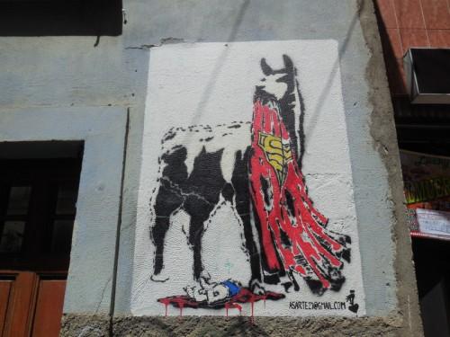 Jolly Llama eats Superman