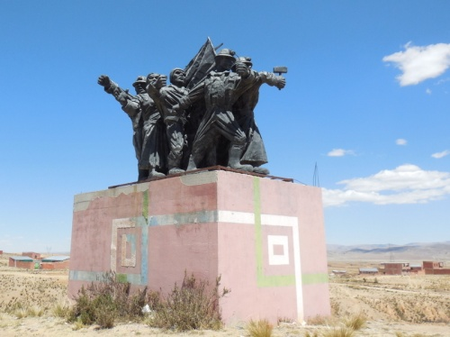 Miners monument on highway 1