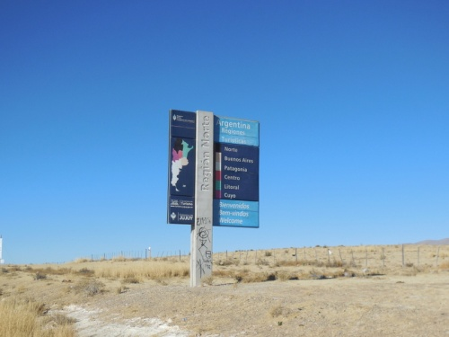 North Argentina welcome sign