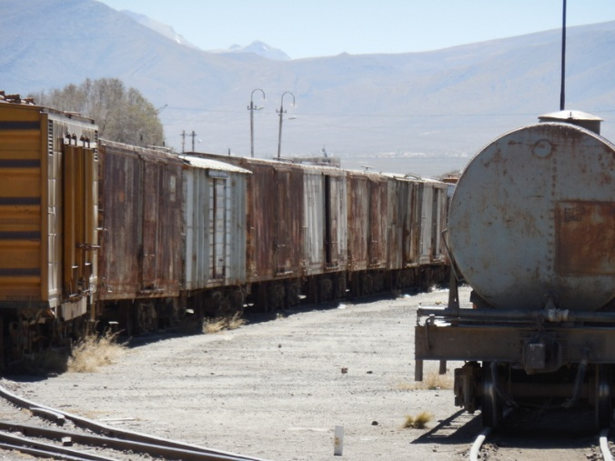 Old trains at station 1