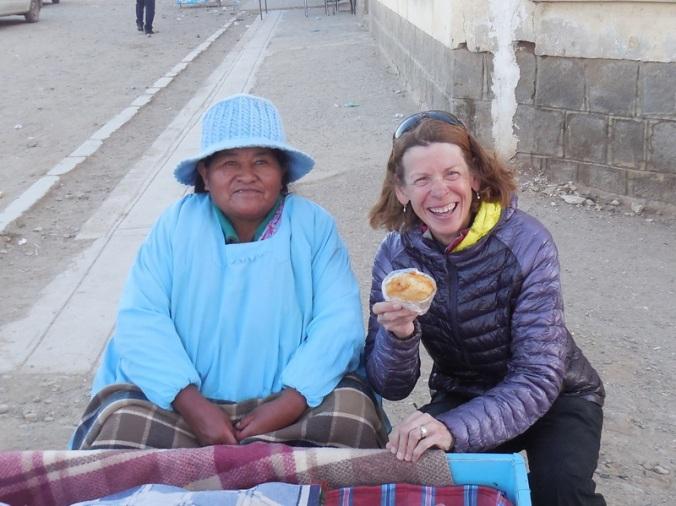 Rica and lard bun seller