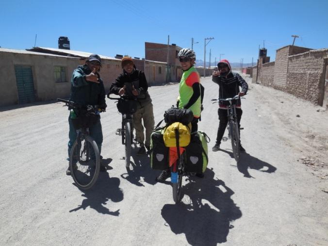 SA bike tourist and his friends