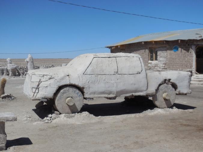 Salt carved truck