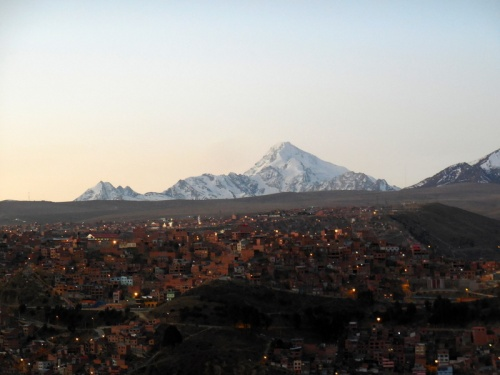 Setting sun in La Paz