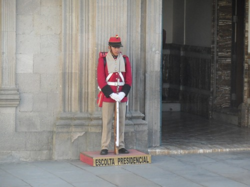 Shooting guard at the Presidential palace