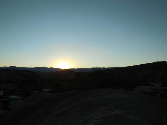 Sunset in Hualfin