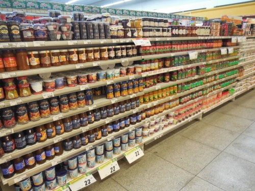 A row of spreads, with no peanut butter