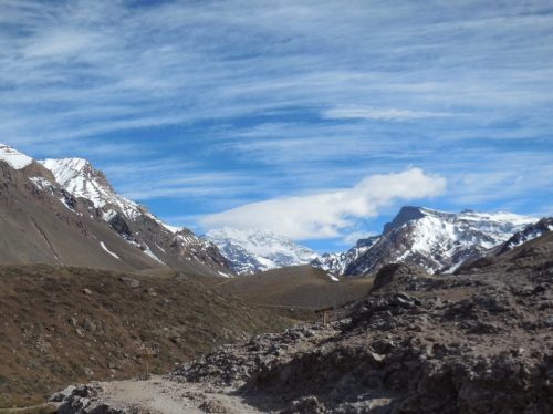Aconcagua in the clouds 2