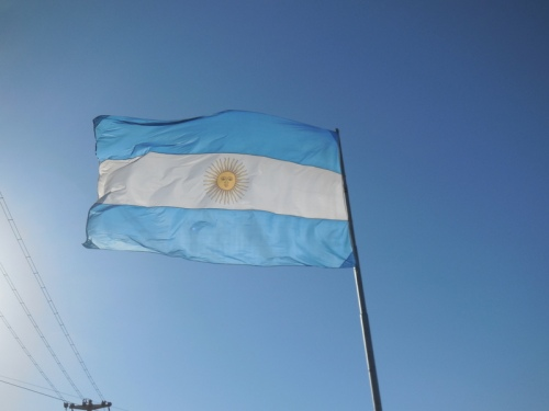 Argentina flag - blowwing 100% the wrong way