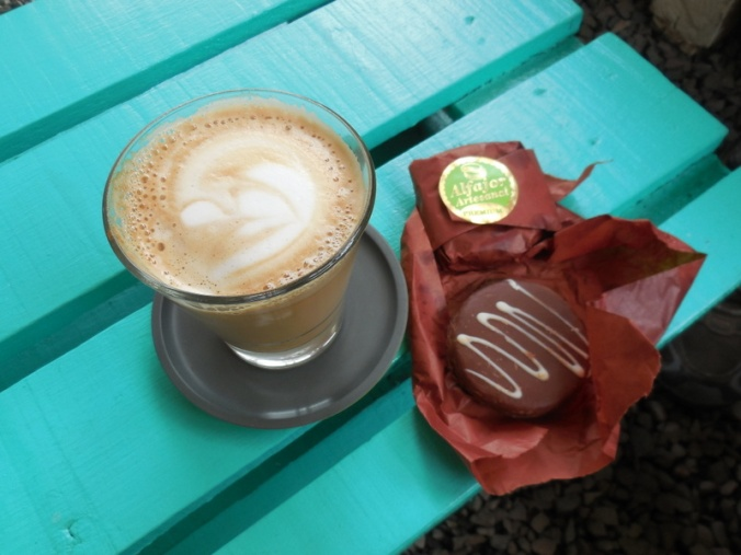 Coffee and alfajore