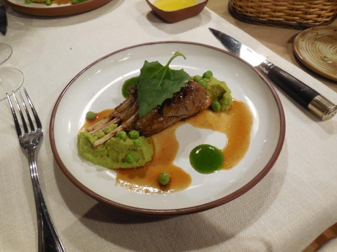 Dinner - rack of lamb