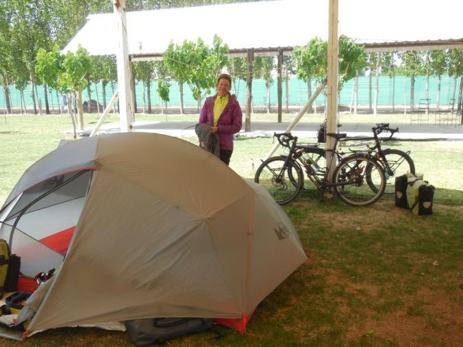 Nancy at camp