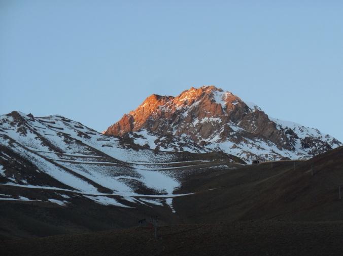 Ski hill and mountain - last night